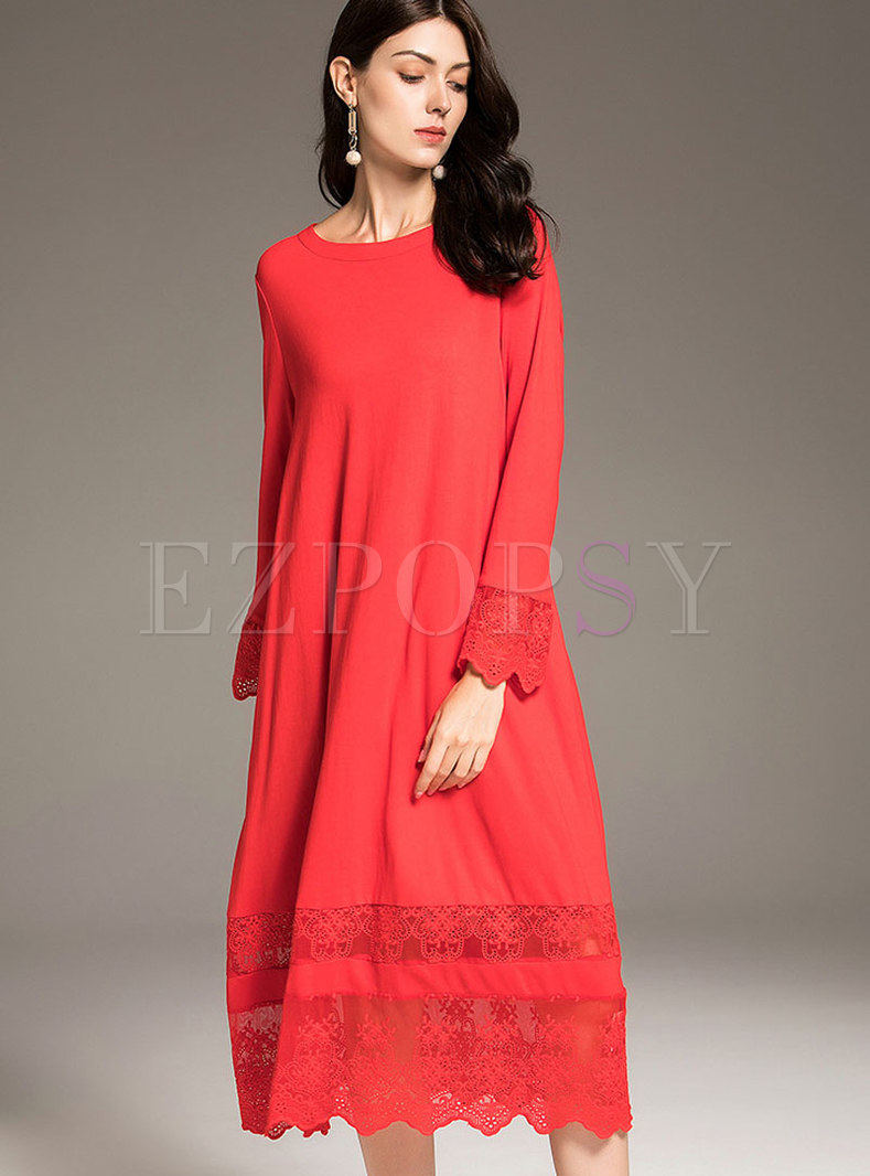 29ba55eb697 Elegant Red Midi Dresses - Data Dynamic AG