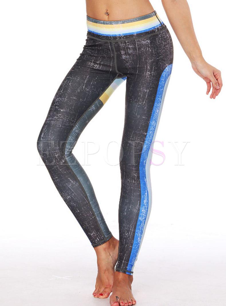 Chic Print High Waist Sport Pants
