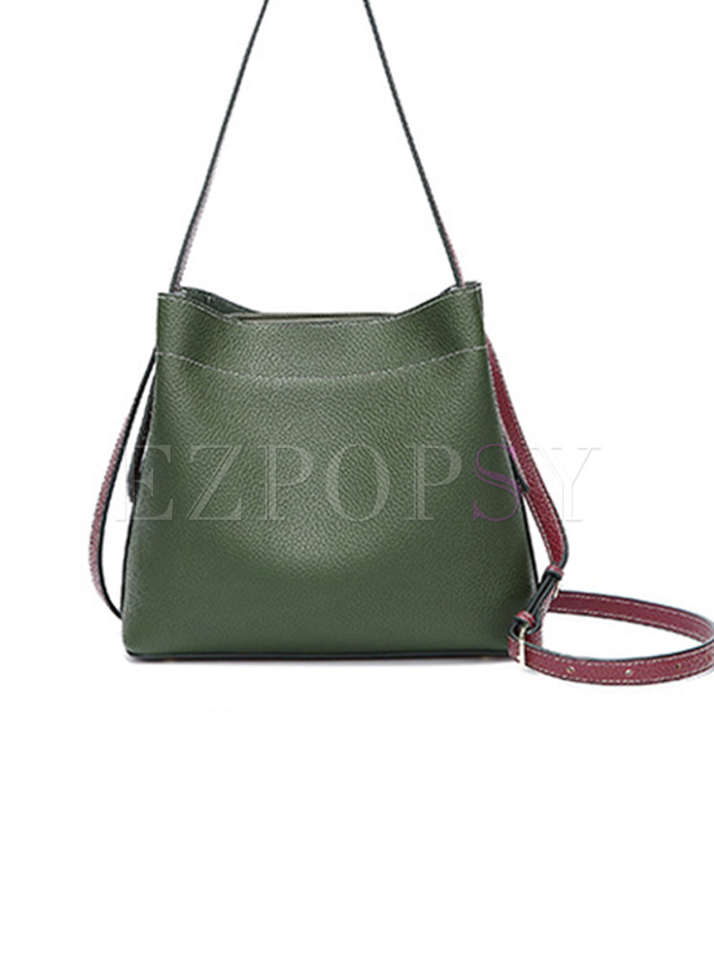 Casual PU Zipper Pocket Crossbody & Tote Bag