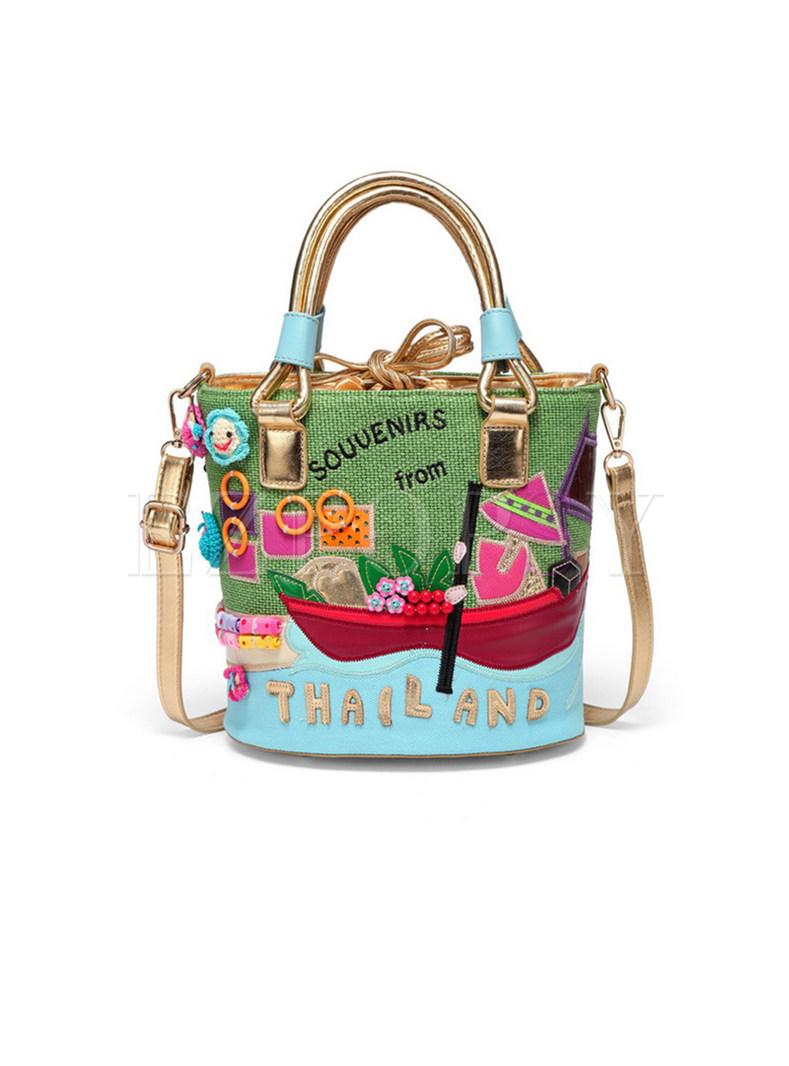 Vintage Original Multicolor Bucket Bag