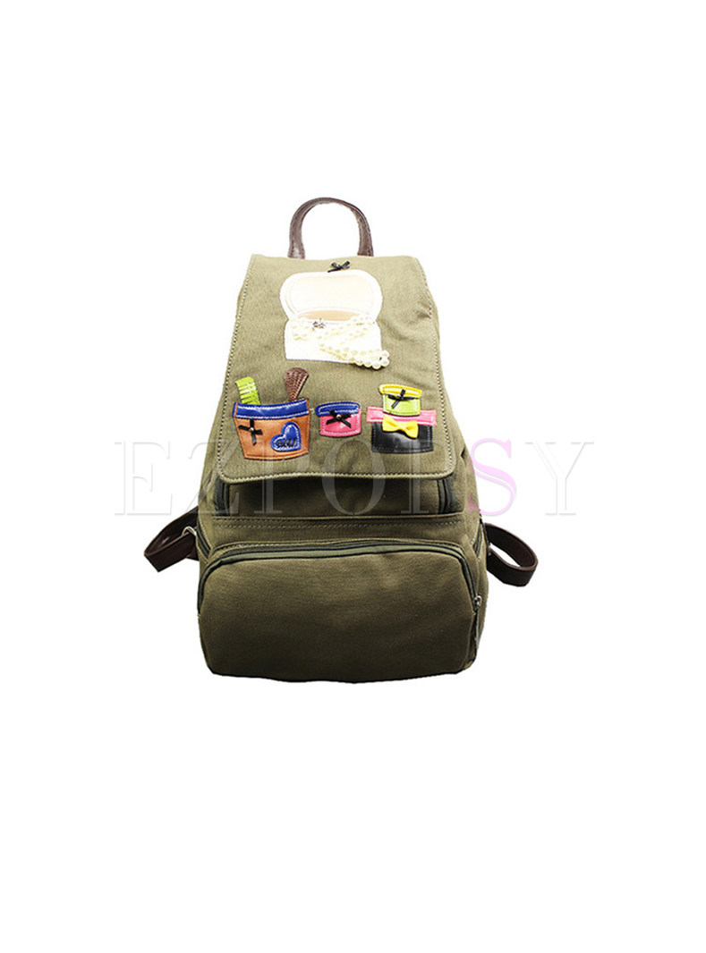 Casual Canvas High-capacity Backpack