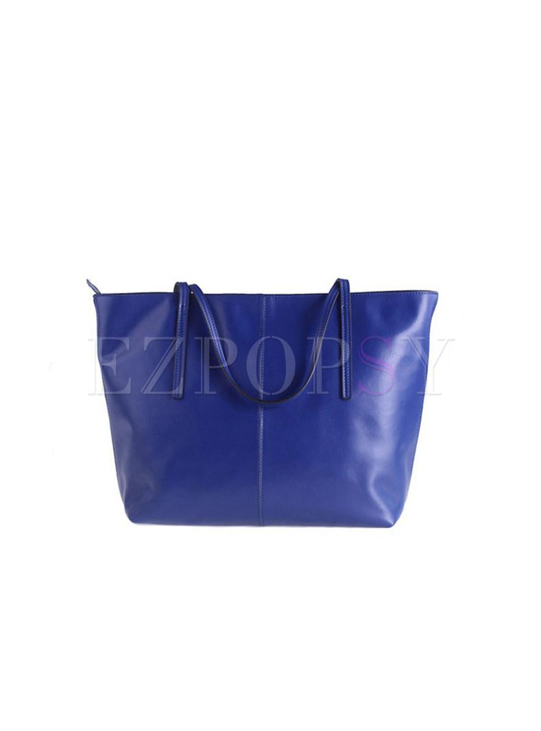 Fashion Cube High-capacity Bucket Tote Bag