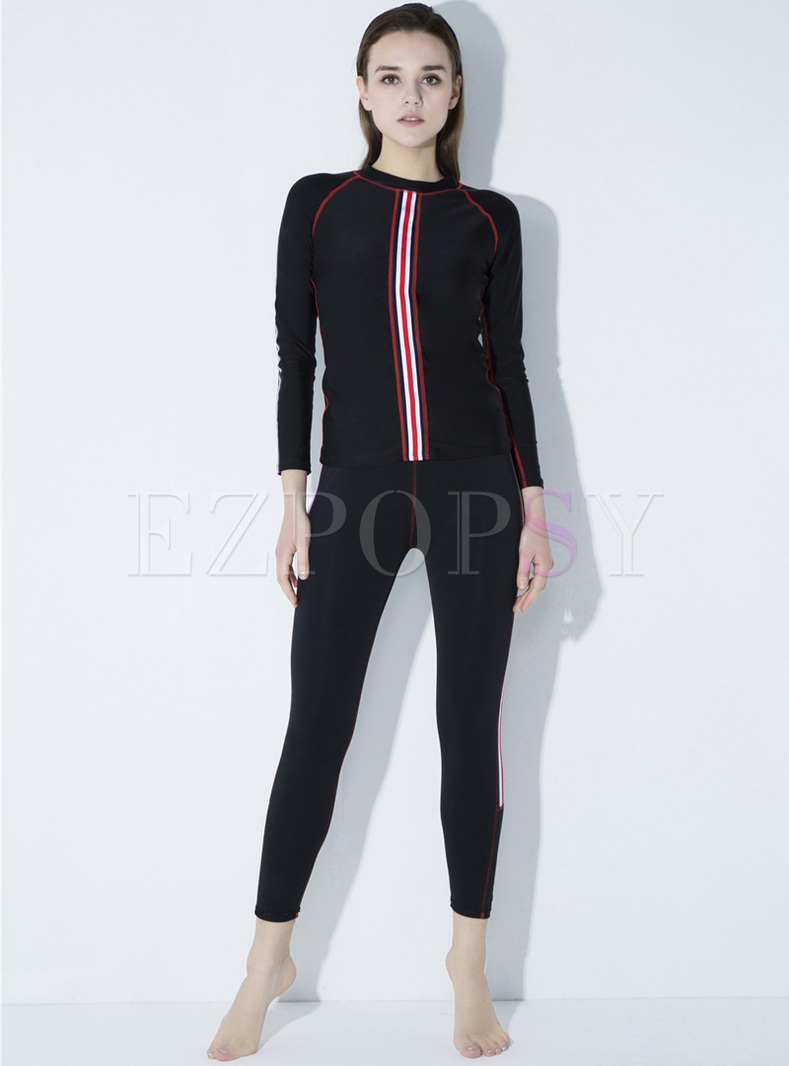 Fashion Pure Color Quick-dry Tracksuit