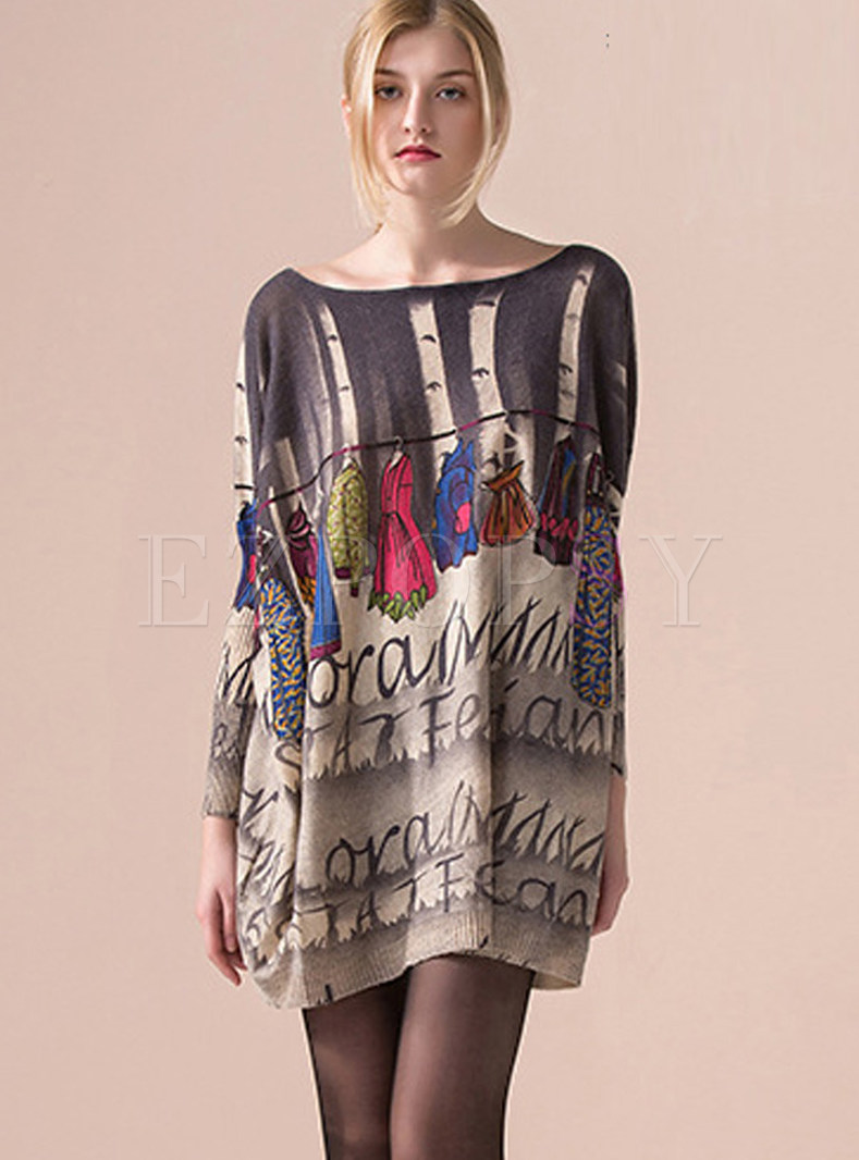 Dresses | Knitted Dresses | Trendy Slash Neck Plus Size Pullover ...