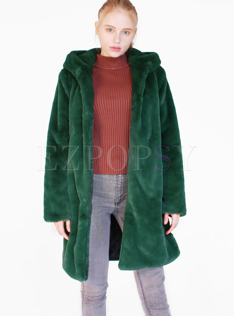Loose Long Sleeve Teddy Coat