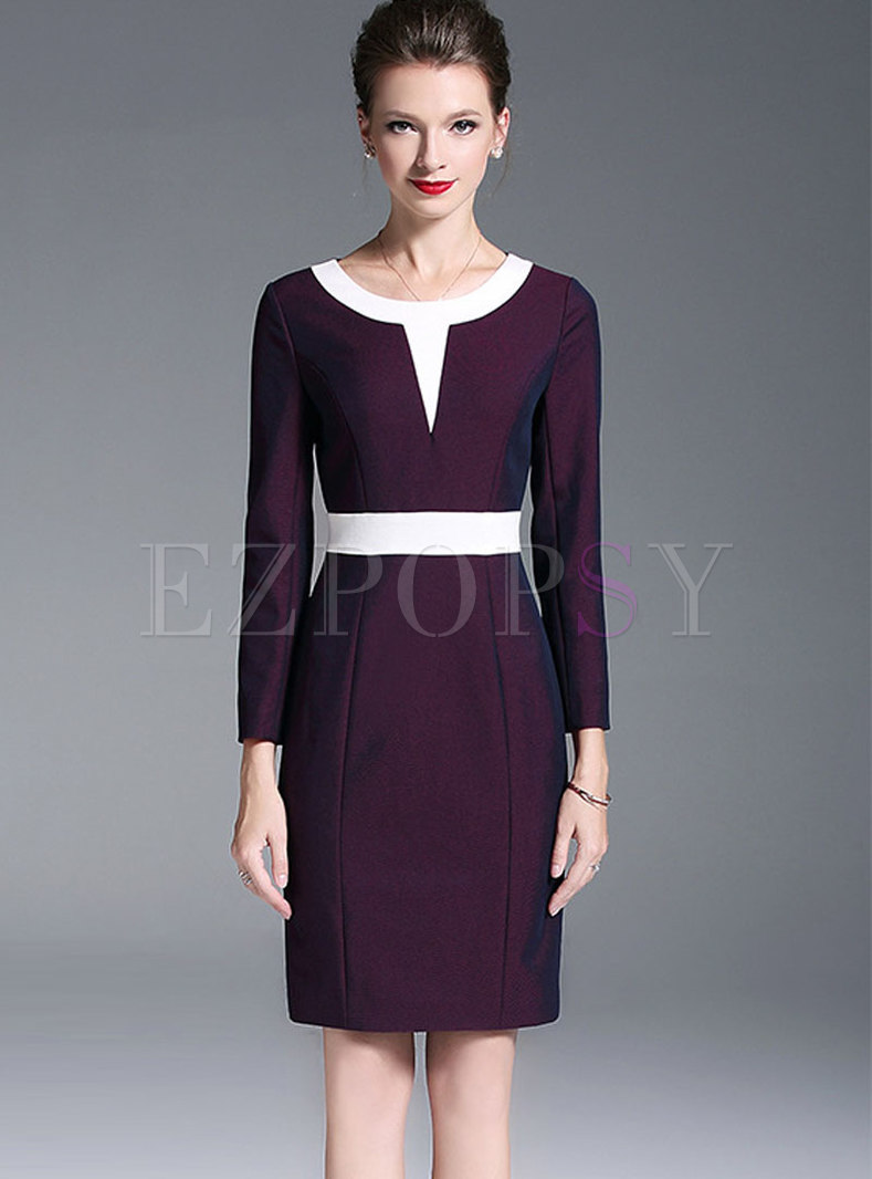 Autumn Trendy Long Sleeve Bodycon Knitted Dress