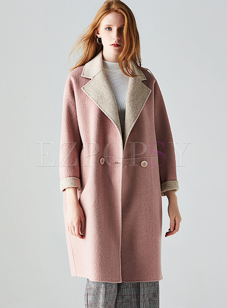 Trendy Winter Cashmere Double-sided Hairy Coat