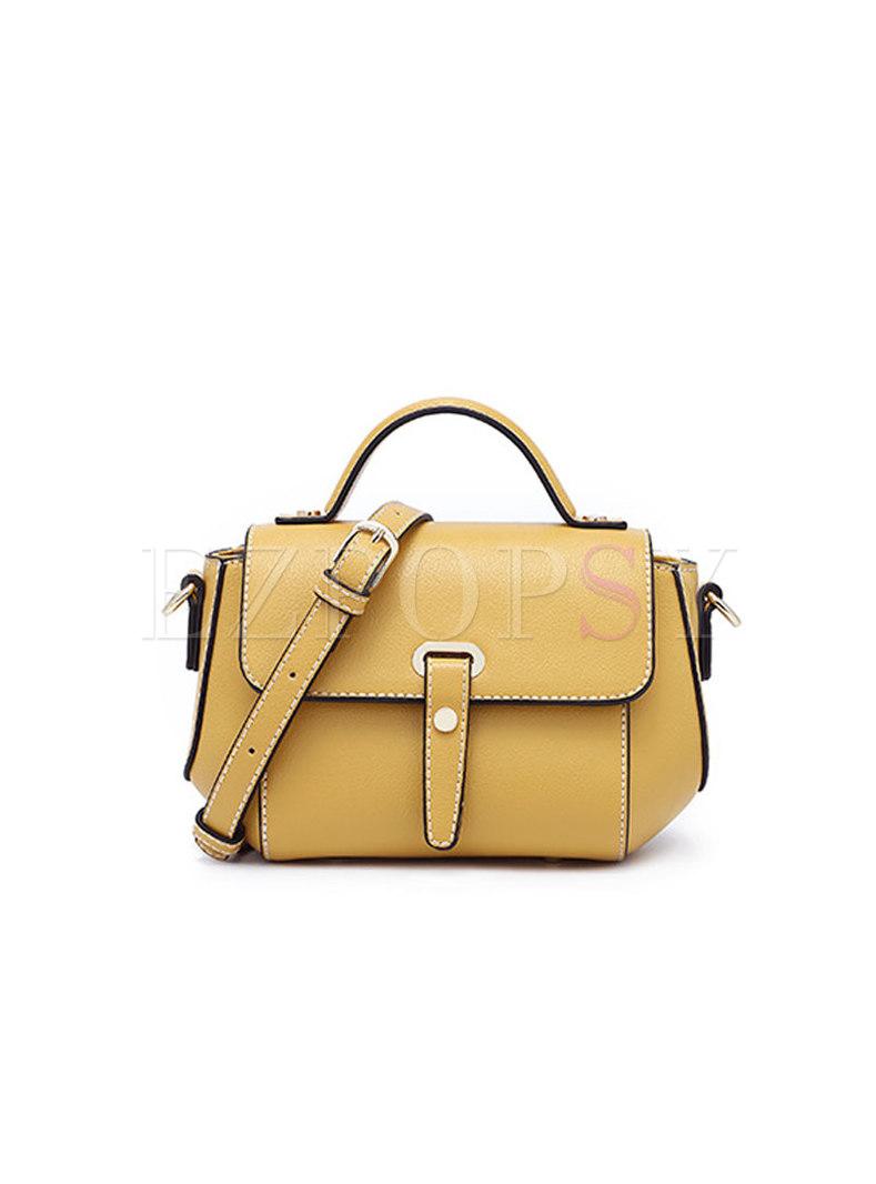 Stylish Contrast-color Wing-shape Top Handle & Crossbody Bag