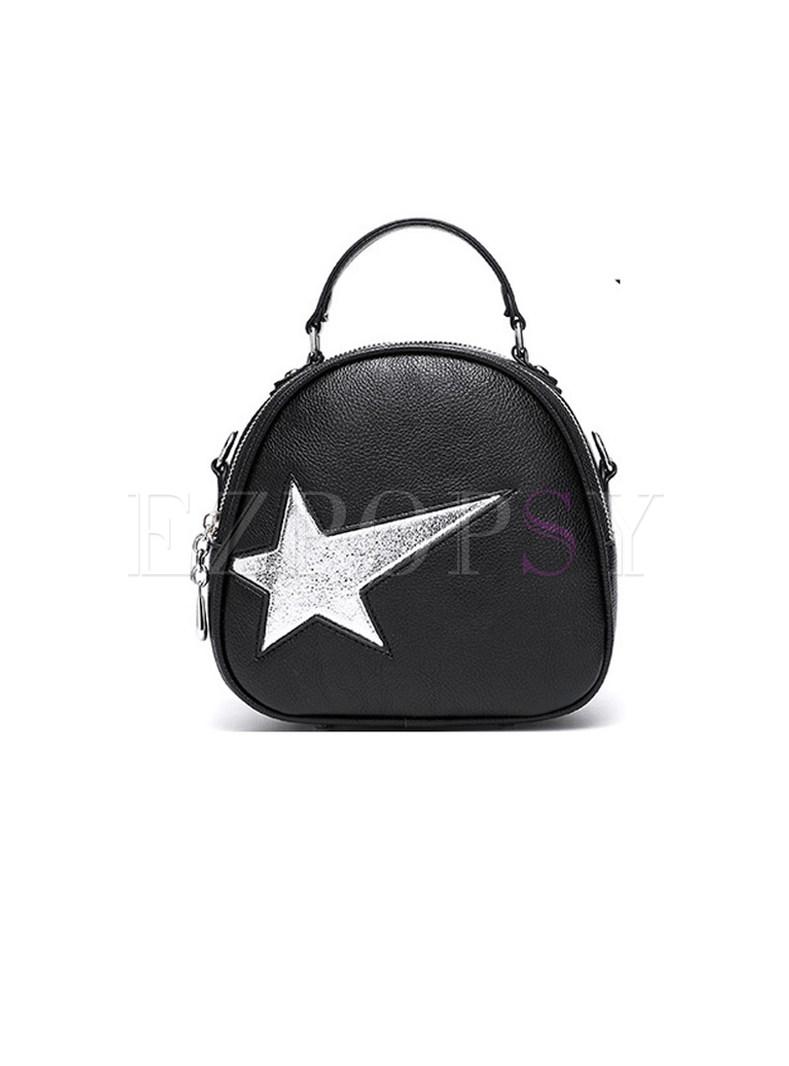 Chic Star Print Handbag & Crossbody Bag