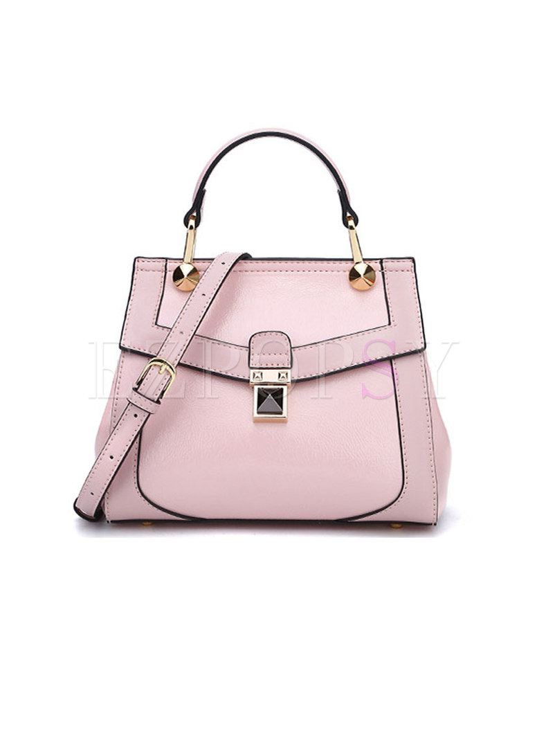 Work Solid Color Top Handle & Crossbody Bag