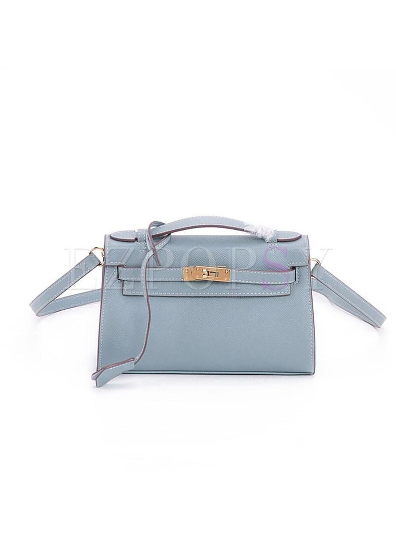 Stylish Leather Push Location Crossbody Bag