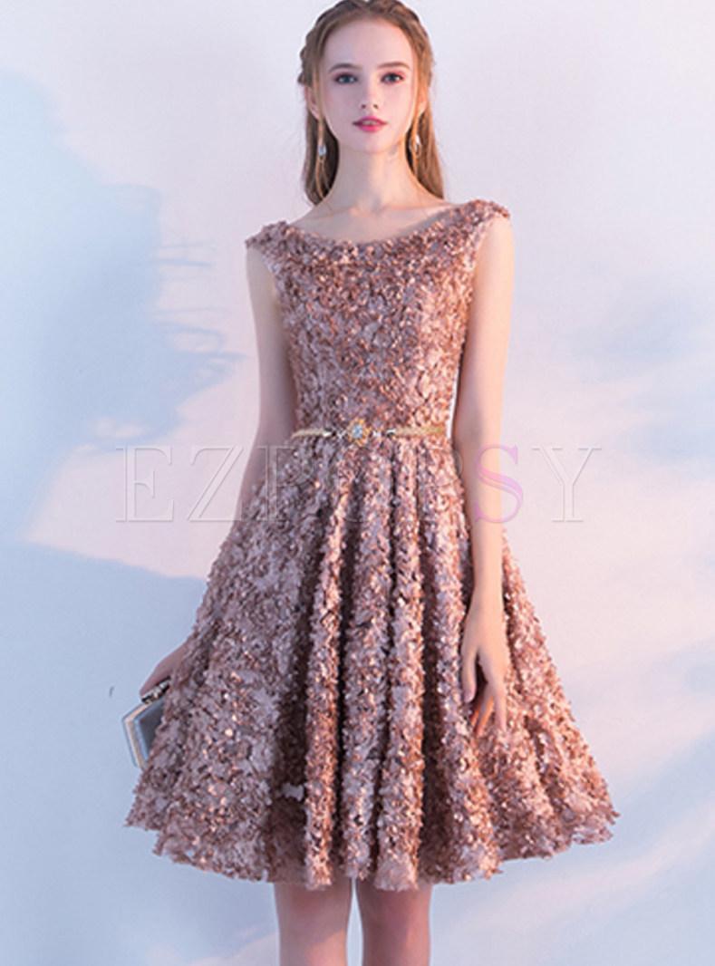 knee length classy evening dresses