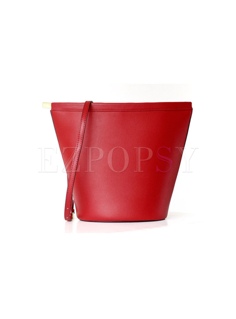 Fashion Brief All-matched Open-top Bucket Bag