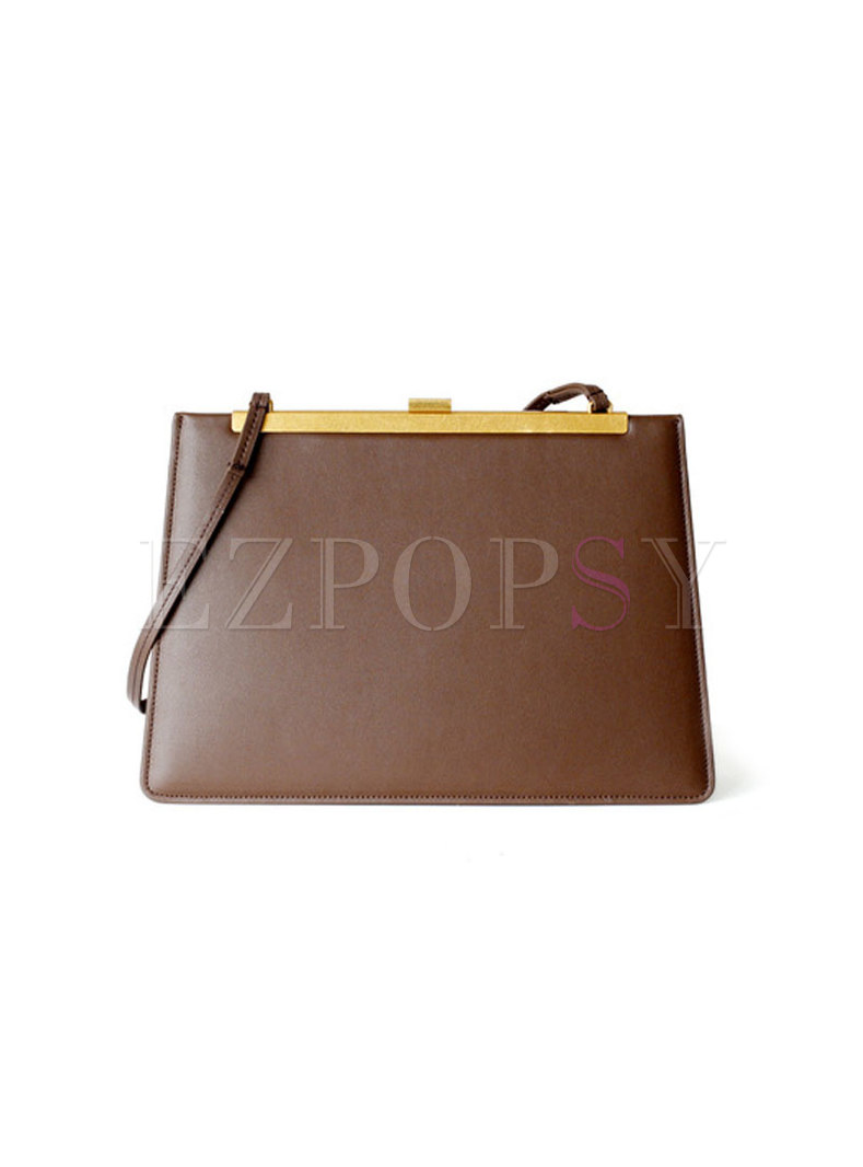 Stylish Genuine Leather Easy-matching Top Handle Bag