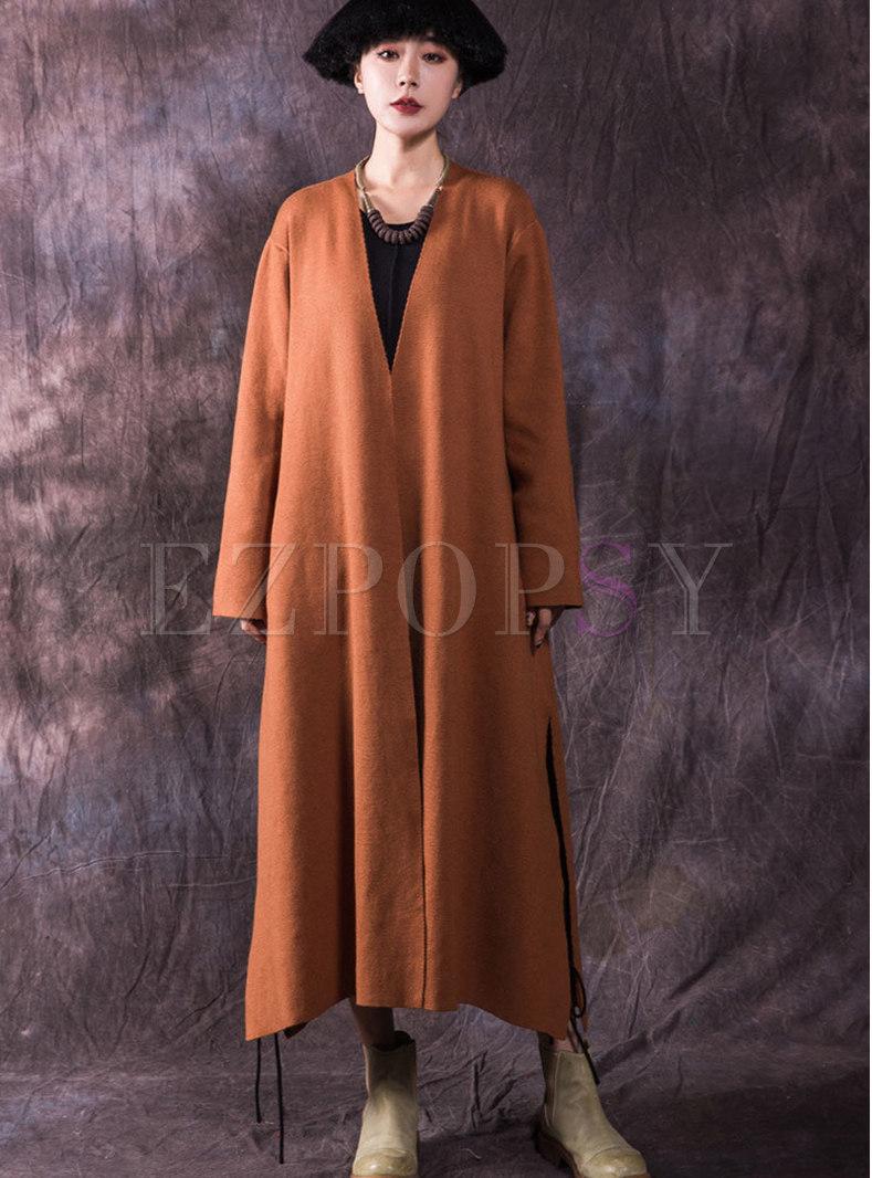 Winter Trendy Pockets Maxi Cardigan Sweater Coat