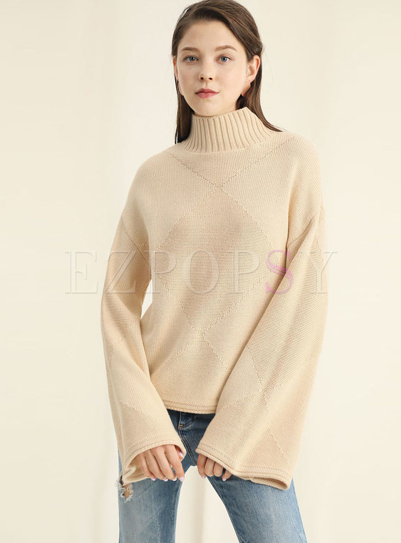 Chic Turtle Neck Thicken Knitting Sweater