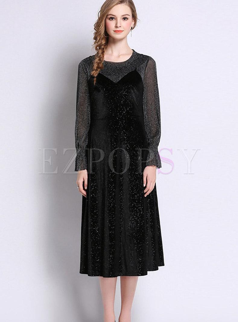 Black Vintage Dress Plus Size | Huston Fislar Photography