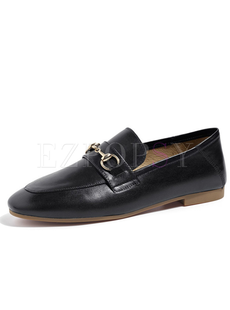 Casual Women Daily Buckle Flat Loafers