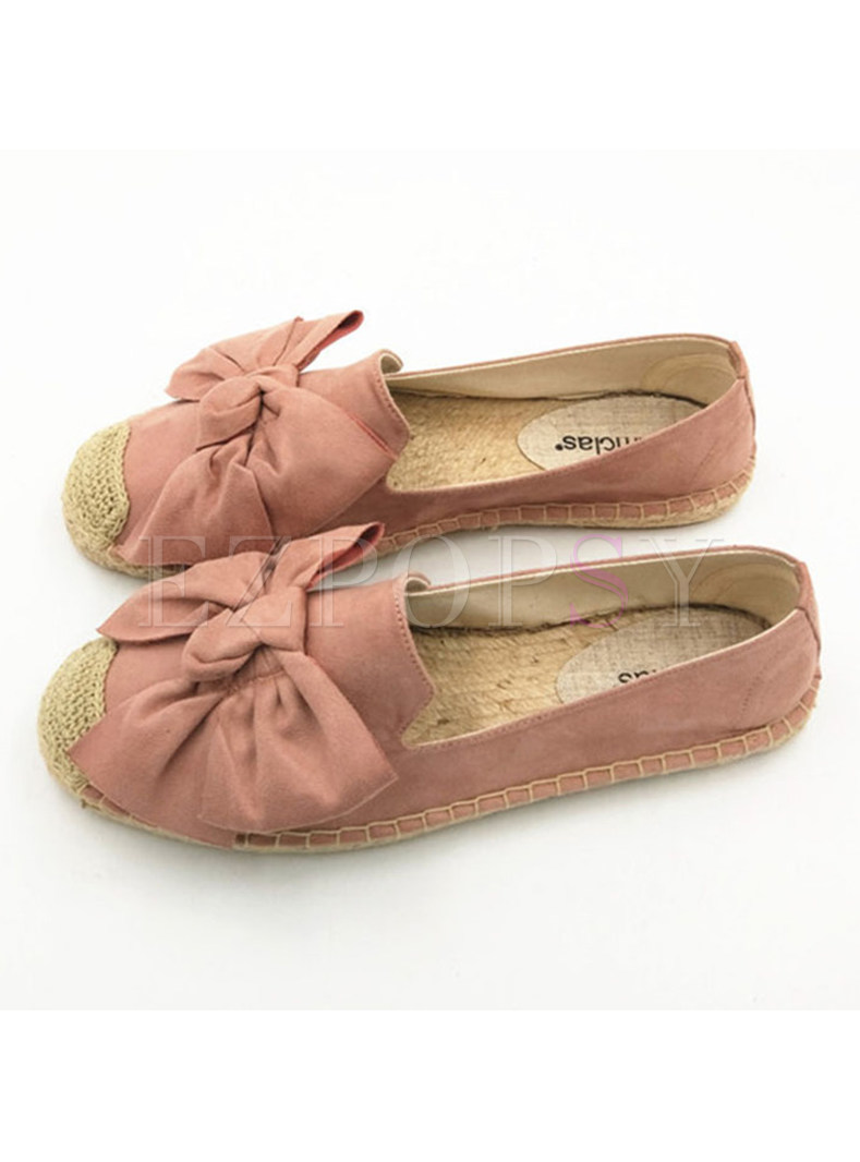 Women Spring/fall Bowknot Round Toe Flat Shoes
