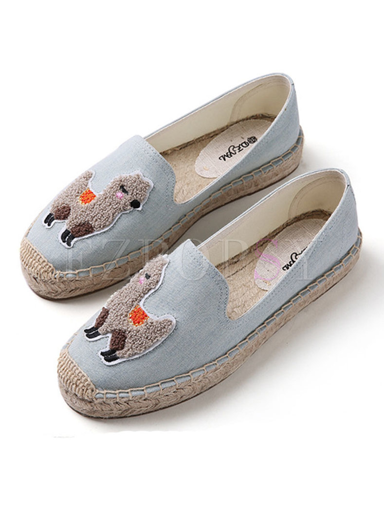 Casual Canvas Cartoon Pattern Daily Loafers