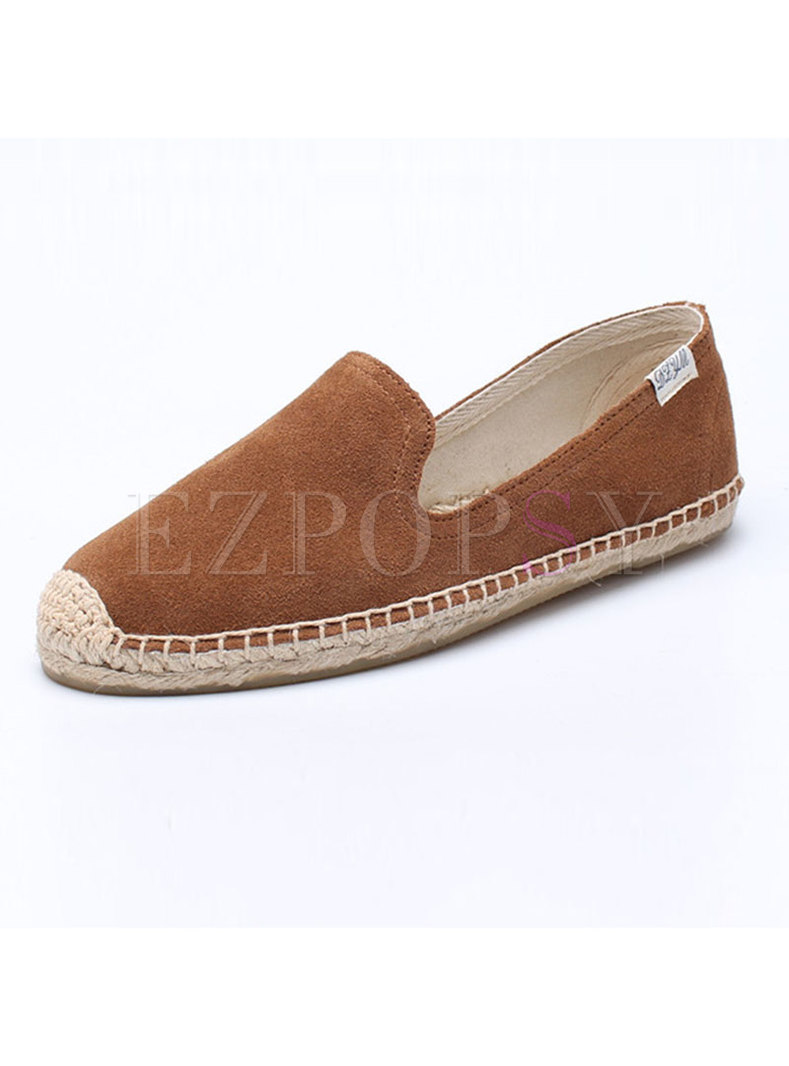 Casual Brief Round Toe Flat Heel Loafers