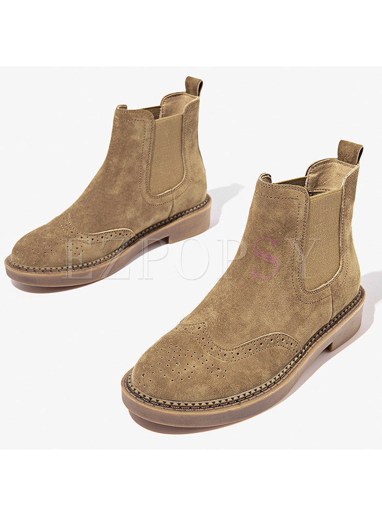 Women Winter Genuine Leather Ankle Boots