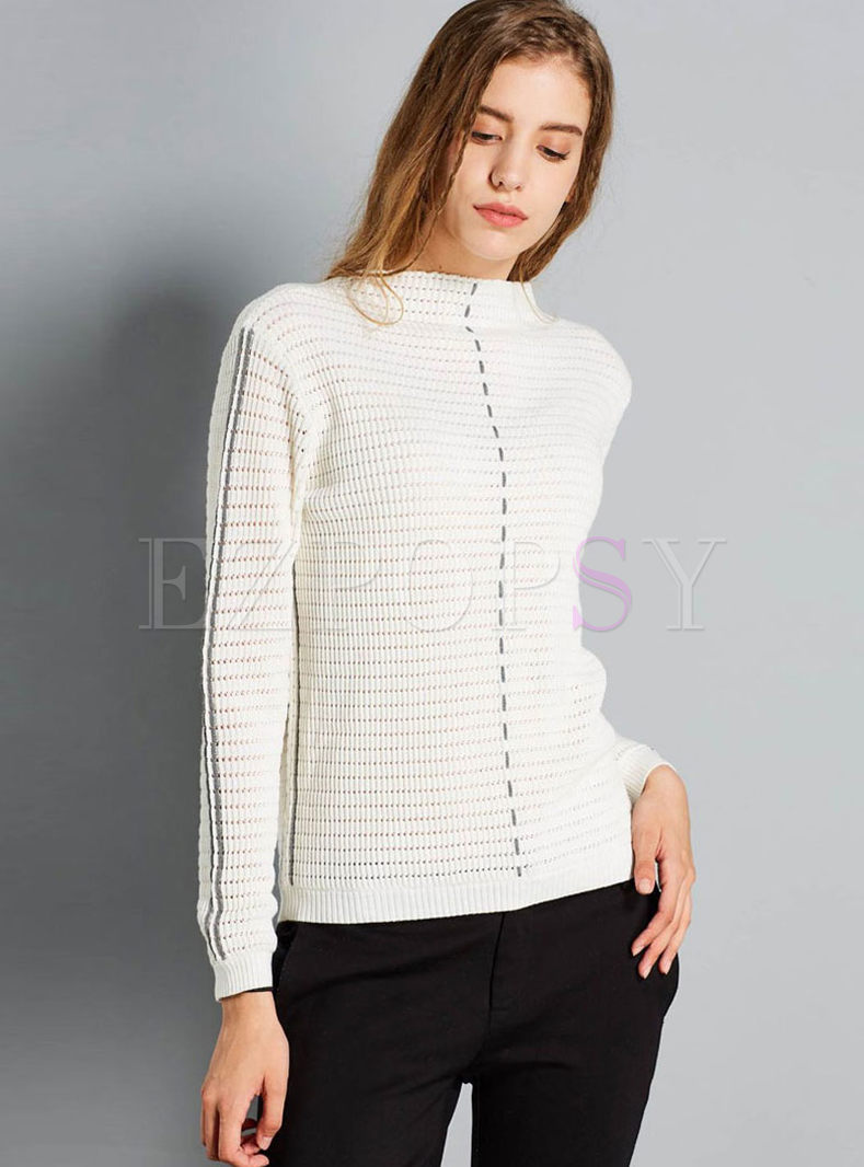Color-blocked Long Sleeve Sweater