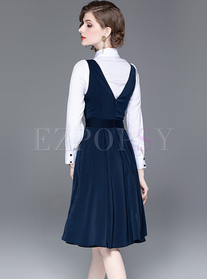 90s Suit Blouse \u2022 Built IN Vest\u2022 small\u2022