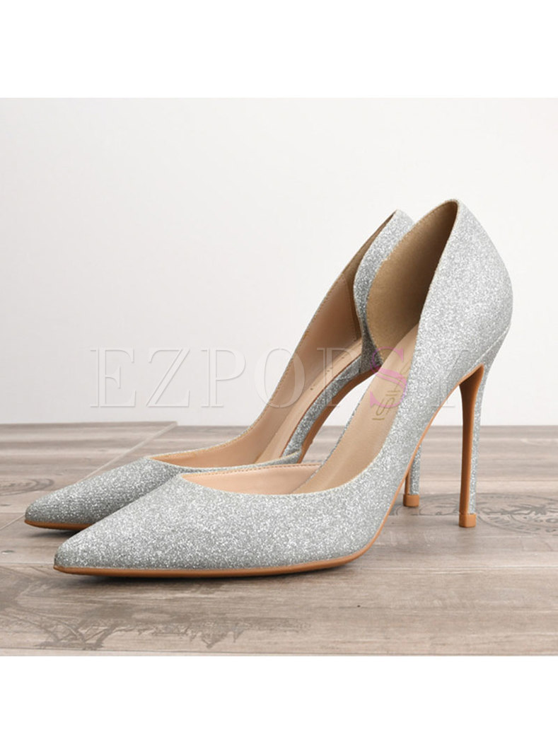 Chic Pointed Toe Sequins High Heel Shoes