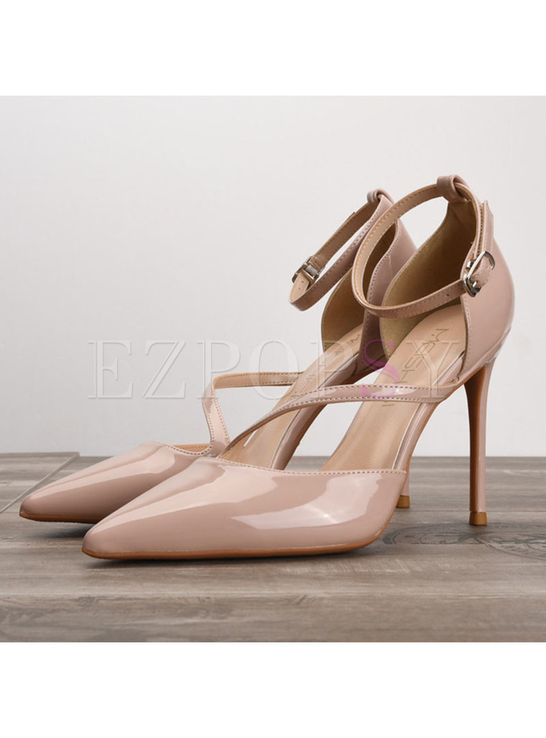 Chic Solid Color Pointed Toe Thin Heel Shoes