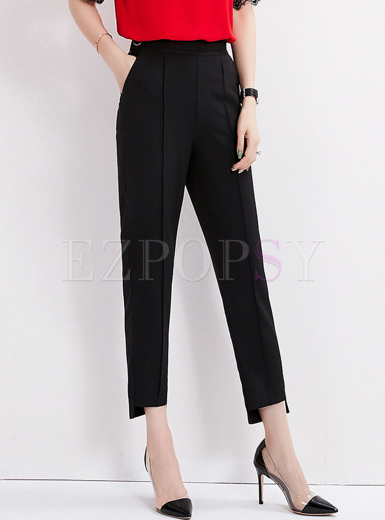 Solid Color All-matched Slim Pencil Pants