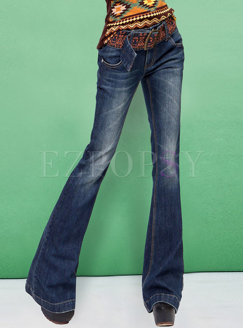 Summer Loose Slim Embroidered All-matched Flare Pants