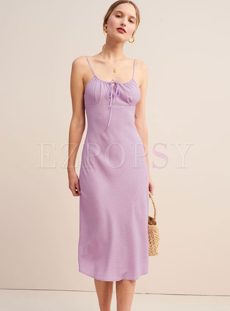 Sexy Solid Color Sleeveless Chiffon A Line Dress