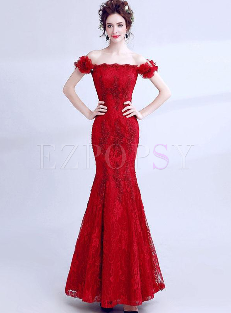 Embroidery Sequined Sashes Slash Neck Sleeveless Backless Prom Dresses