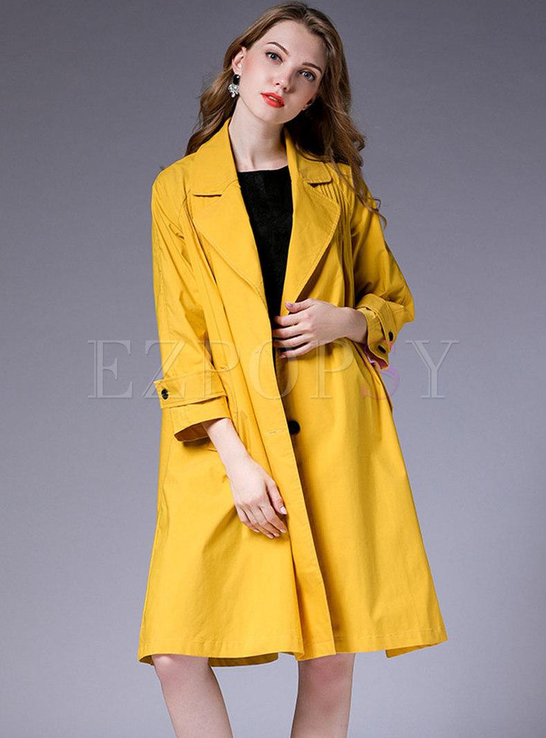 Loose Turn-down Collar Fold Comfortable Coat