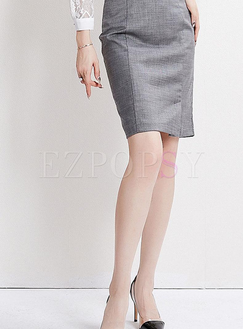 Work Slim Bodycon Mini Skirt