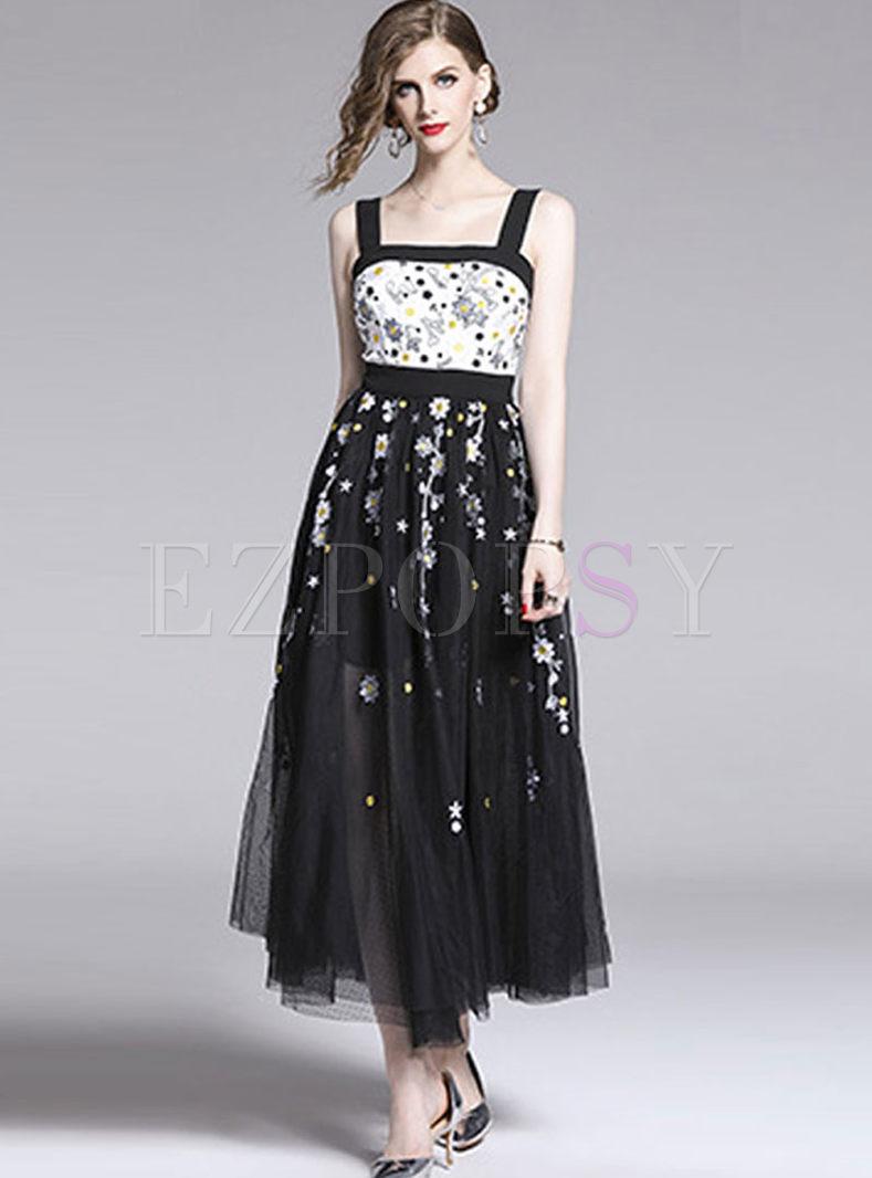 e382d2e9a993b Sequin Mesh Embroidered Maxi Dress