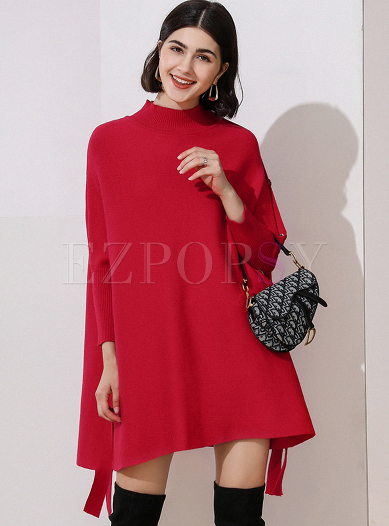 Brief Batwing Sleeve Knit Top