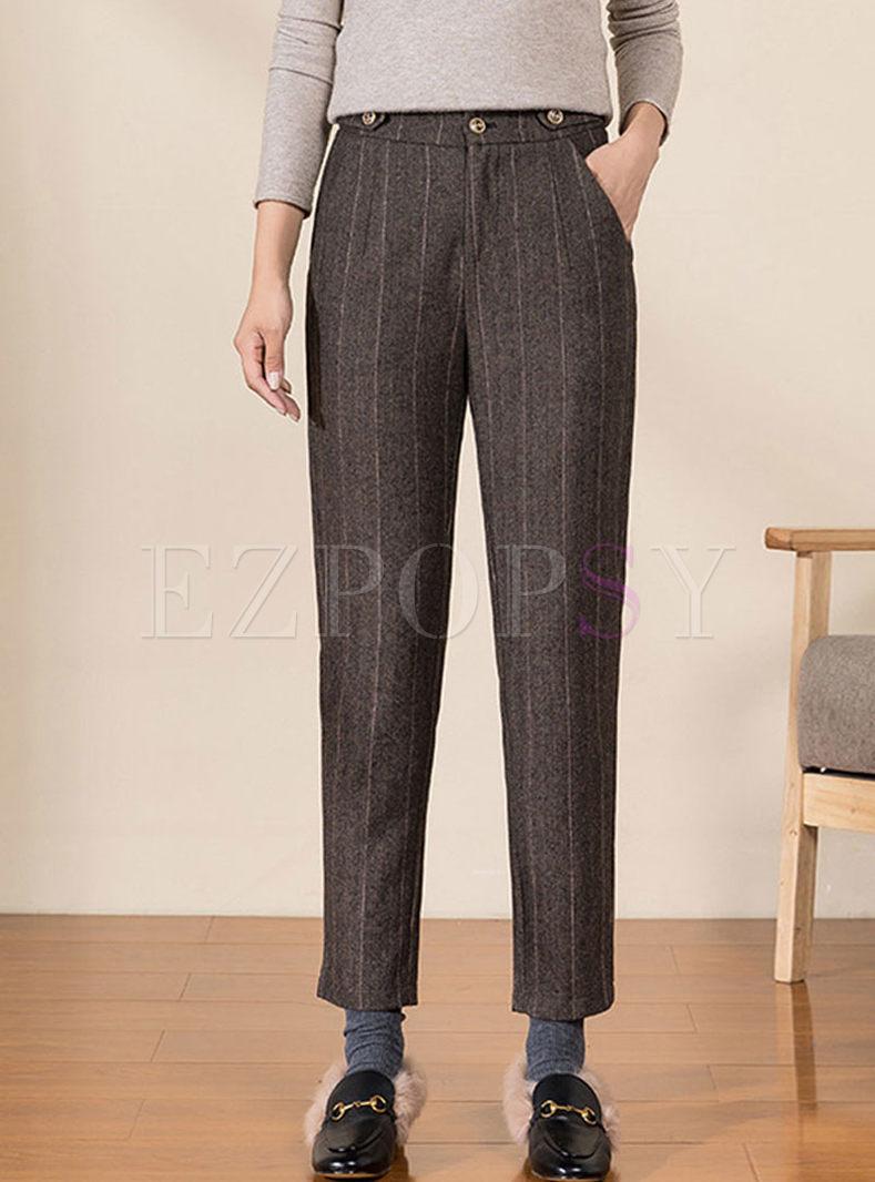 Work High Waisted Slim Harem Pants