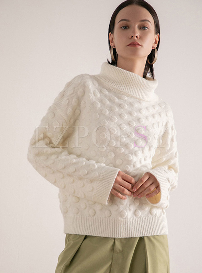 Sweat High Collar Loose Pullover Sweater