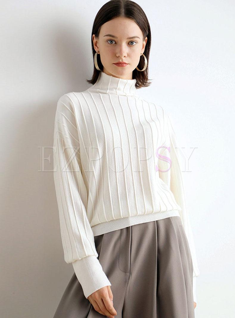 Turtleneck Loose Long Sleeve Sweater