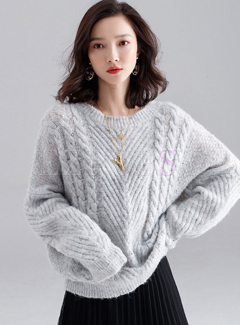 Casual Solid Color Loose Sweater