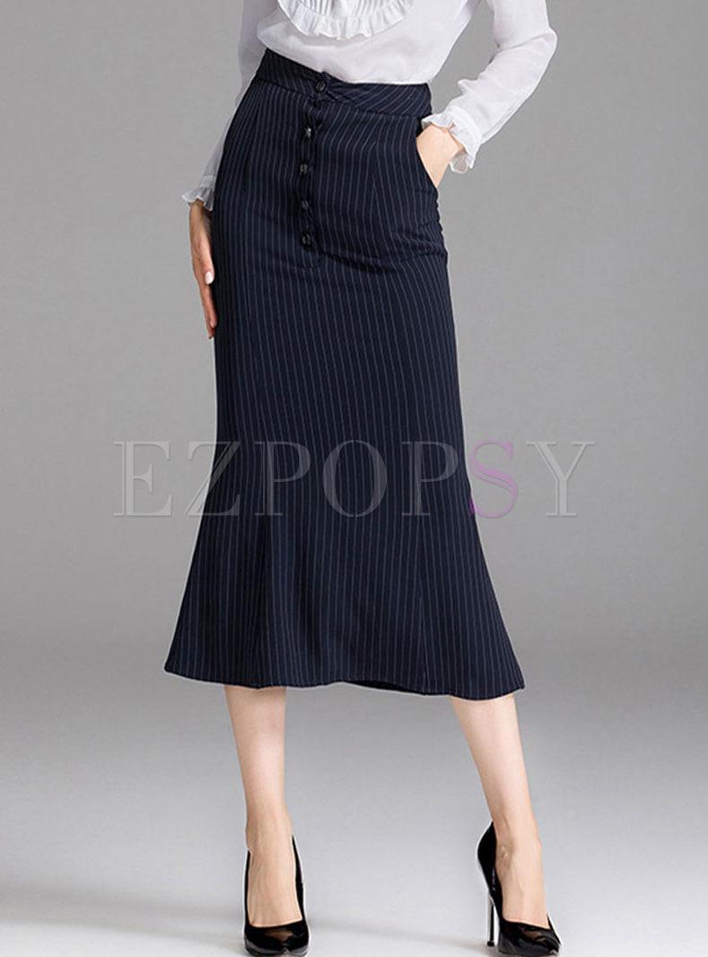 High Waisted Bodycon Peplum Skirt