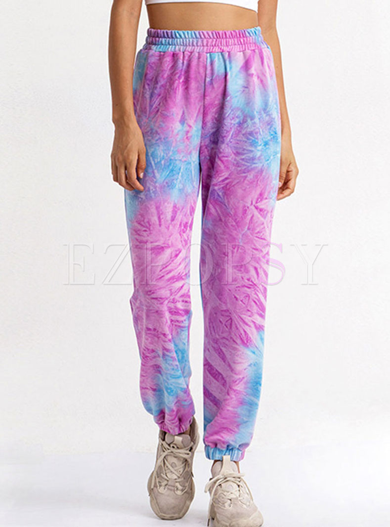High Waisted Print Yoga Lantern Pants