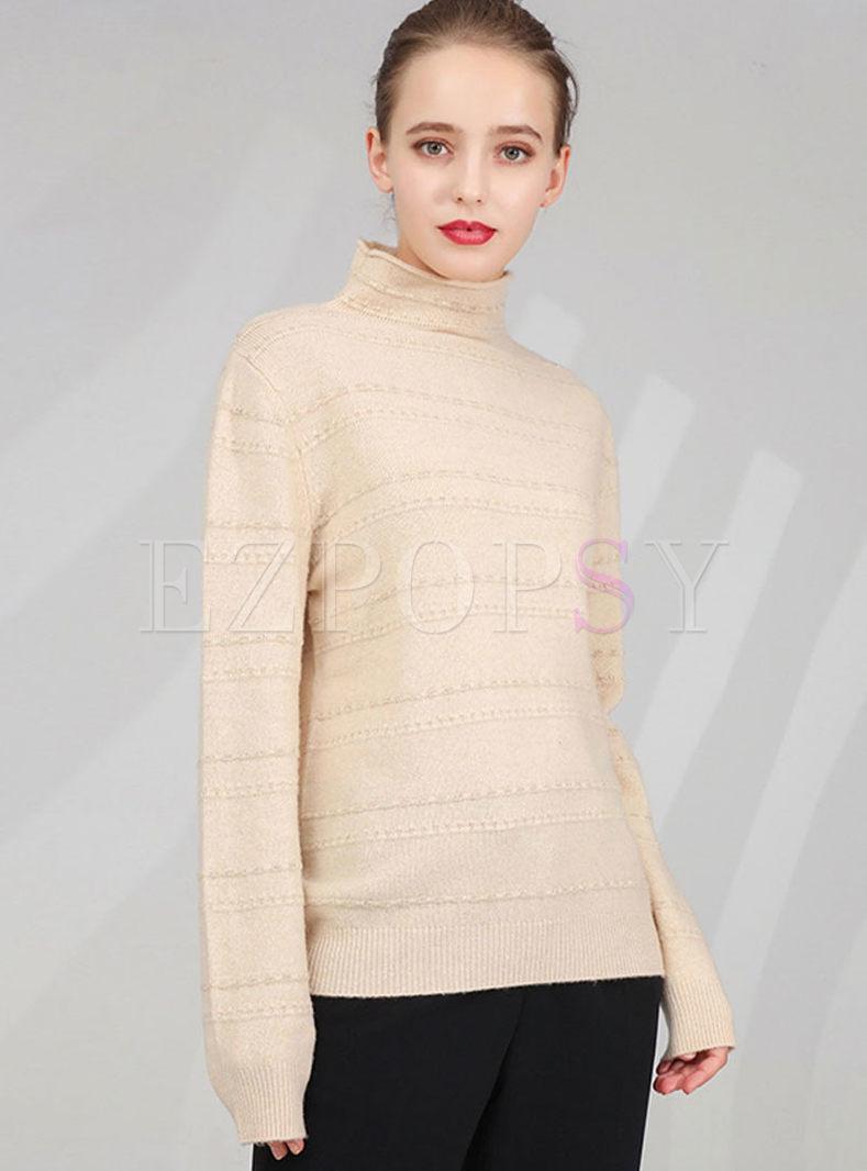 Turtleneck Pullover Slim Knit Sweater