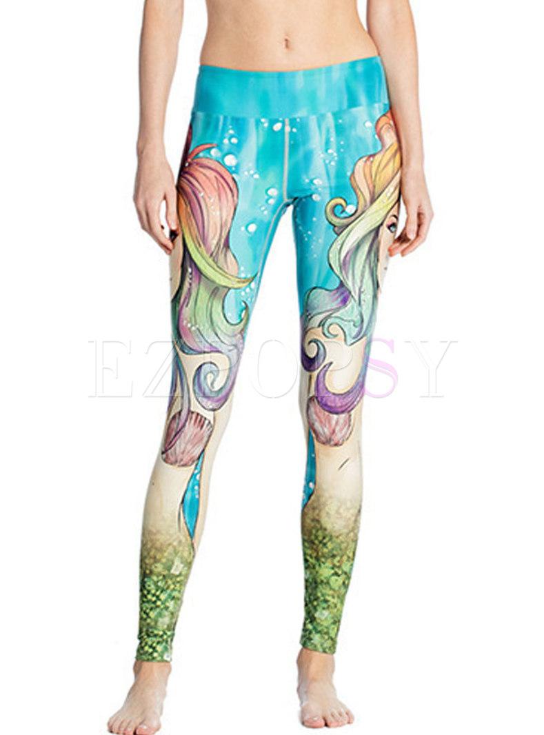 Print Quick-drying High Waisted Yoga Pants