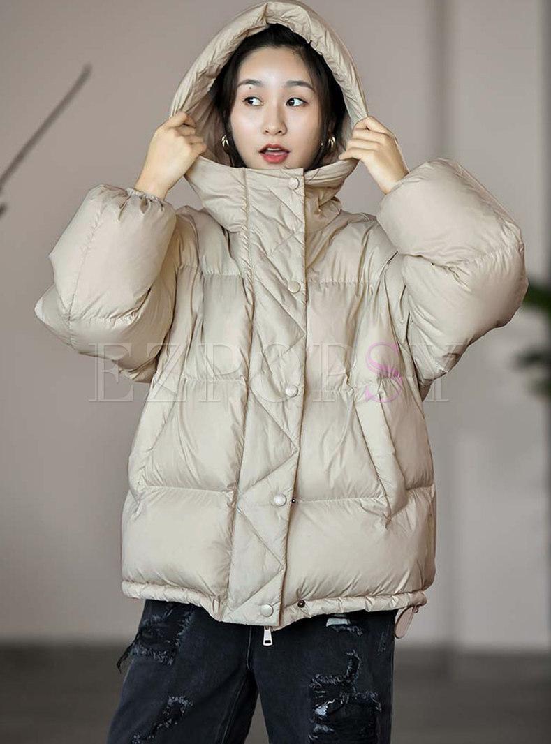 Hooded Straight Short Puffer Jacket