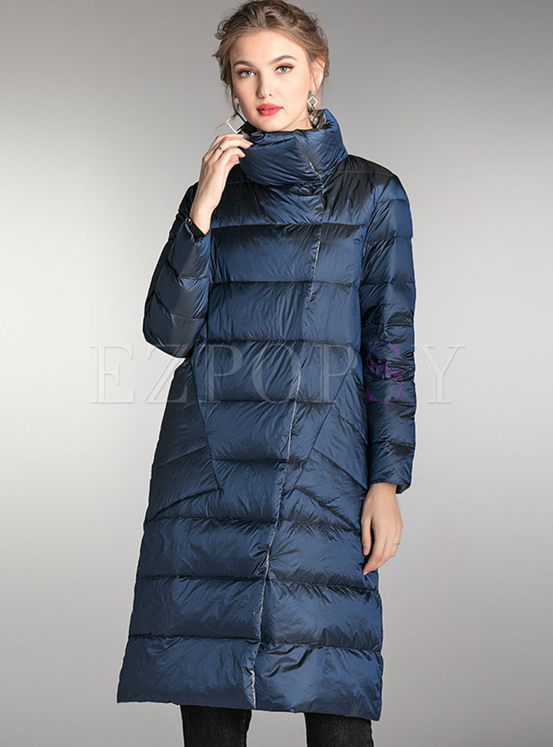 Plus Size Lightweight Reversible Puffer Coat