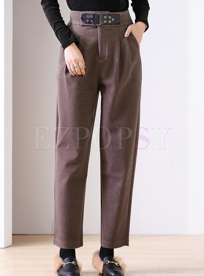 High Waisted Long Harem Pants