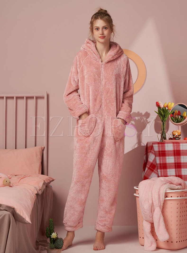 Pink Cute Coral Loose Pajama